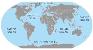 map with oceans oceans and seas travel blogs photos and forum