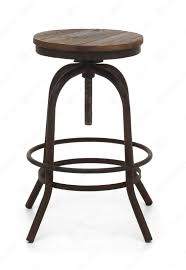 white fabric upholstered bar stool with rounded wooden footrest f