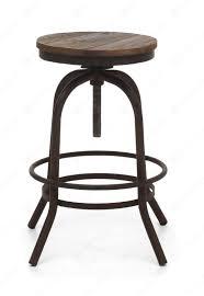 traditional black iron bar stool frame combined round white oak