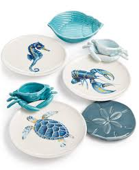 fitz and floyd cape coral entertaining collection serveware