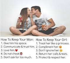 How To Keep A Man Meme - how to keep your man how to keep your girl 1 give him his space 1