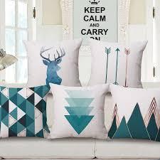 taie d oreiller pour canapé decovative jeter taie d oreiller couverture géométrique cerfs