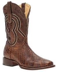men u0027s wide square toe alligator boots brown u2013 skip u0027s western