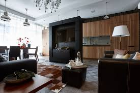 Wenge Living Room Furniture Contemporary Style Apartment Designed With Much For Wood