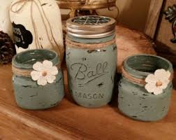 Mason Jar Bathroom Decor Mason Jar Bathroom Etsy