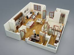 Big House Blueprints by 50 One U201c1 U201d Bedroom Apartment House Plans Architecture U0026 Design