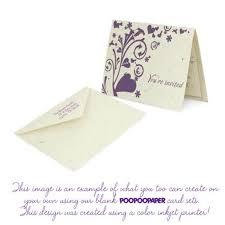 elephant poopoopaper greeting invitation card and envelope set