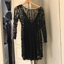 58 off free people dresses u0026 skirts free people black lace