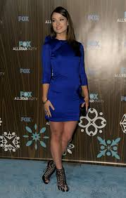high neck royal blue olivia wilde cocktail dress with sleeves