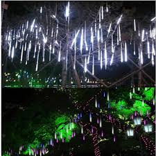 led meteor shower tube lights 8 tubes 30cm 50cm solar power led meteor shower rain tube lights
