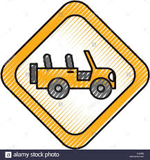 yellow jeep clipart all terrain vehicle stock vector images alamy