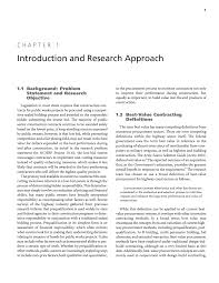 Research Objective Statement Chapter 1 Introduction And Research Approach Best Value