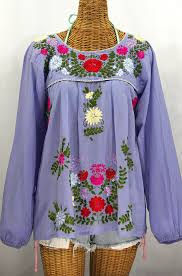 periwinkle blouse la mariposa larga de color longsleeve blouse periwinkle