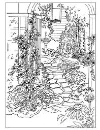 5 images garden coloring pages printable detailed
