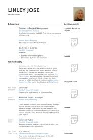 Project Manager Resume Examples by Assistant Project Manager Resume Samples Visualcv Resume Samples