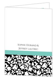 black wedding programs black white and aqua wedding program wedding programs