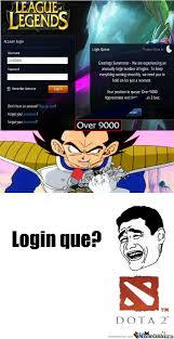 Meme Center Login - rmx what s the scouter say about the login queue by themonk meme