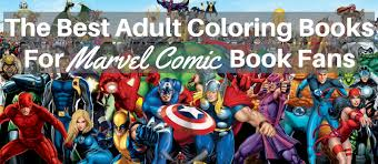 coloring books marvel comic book fans
