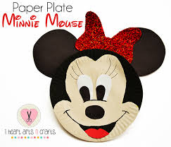 Arts Craft Crafts For Craft Paper Plate Minnie Mouse Craft I Arts N Crafts