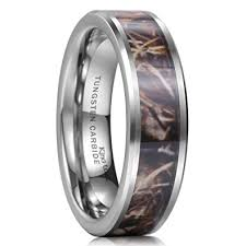 camo mens wedding bands king will 8mm camo trees leaves tungsten carbide ring camouflage