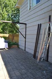 How To Cover A Pergola From Rain by How To Build A Super Frugal Pergola The Created Home
