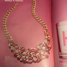 pink collar necklace images Avon jewelry pink hope jeweled collar necklace poshmark jpg