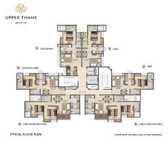floor plans of 1 2 3 bed homes at upper thane by lodha group