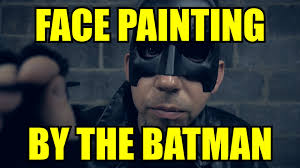 Batman Face Meme - face painting by the batman asmr youtube