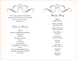 wedding programs template 5 wedding program template free outline templates