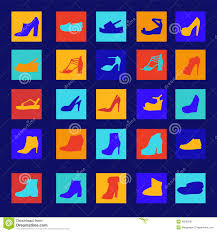 s boots high heel silhouettes of fashion s boots and high heels shoes stock