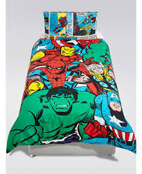 Marvel Double Duvet Cover Marvel Avengers Superheroes Single Duvet Cover And Pillowcase Set