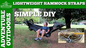 camping gear hammock straps make your own diy ultralight