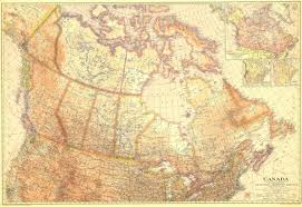 Canada Map by National Geographic Canada Map 1936 Maps Com
