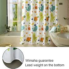 kids shower curtain wimaha fabric shower curtains soft funny