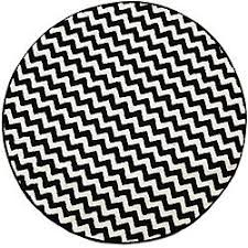 Black And White Zig Zag Rug Round Chevron Rug Roselawnlutheran