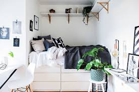 Furniture For Studio Apartments by 21 Best Ikea Storage Hacks For Small Bedrooms