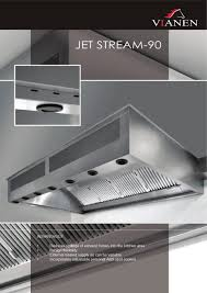 Kitchen Ventilation Design Jet Stream 90 Vianen Kitchen Ventilation Pdf Catalogues