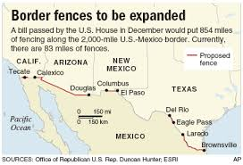 map usa mexico border the wall building a continuous usmexico barrier would be a