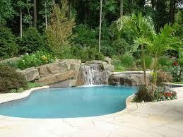 Backyard Swimming Pool Designs Tropical Backyard Swimming Pool - Backyard spa designs