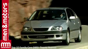 top toyota cars top 10 family cars 2002 toyota avensis youtube