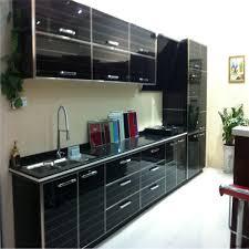 High Gloss Black Kitchen Cabinets High Gloss Black Kitchen Cabinet Designs On Aliexpress