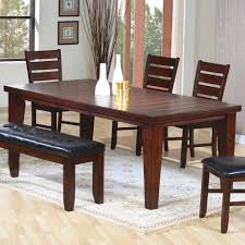 homelegance alita 6 piece dining room set w bench in warm dining