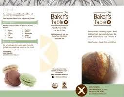 the baker u0027s table the baker u0027s table menu