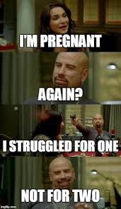 Im Pregnant Meme - skinhead john travolta meme imgflip