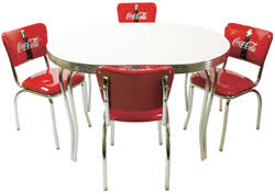 coca cola table and chairs coca cola dinette set for 4