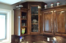 Glass Cabinet Kitchen Doors Enchanting 20 Corner Kitchen Cabinets With Glass Doors
