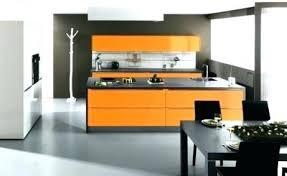 cuisine couleur orange tapis de cuisine orange cuisine orange et gris credence cuisine