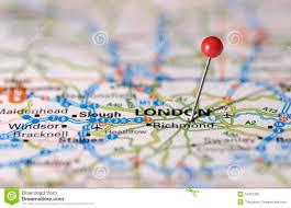 London On Map London Map Pin Stock Photo Image 18431260