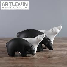 european polar creative animal black white figurine friendly
