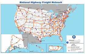 map us hwy national highway freight network map fhwa freight management and